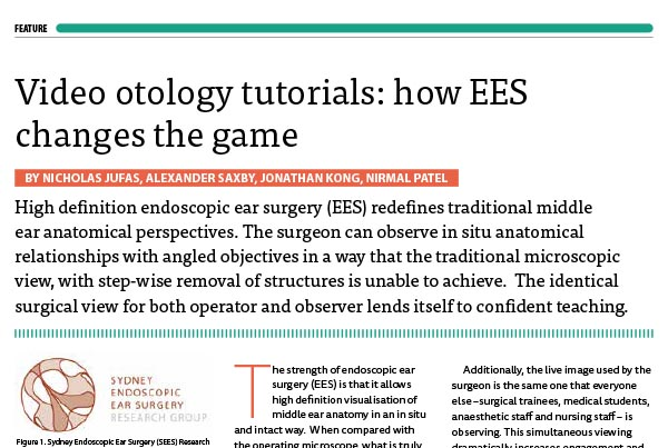 SEES Video Tutorial Article ENT News May 2016