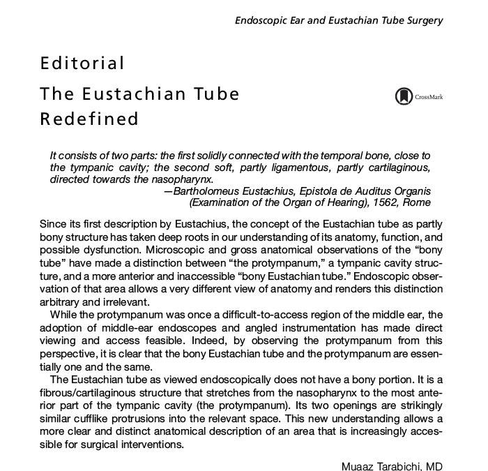 eustachian tube redefined dr nirmal patel