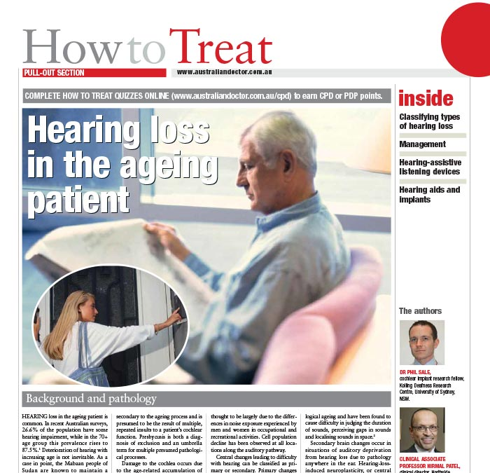 hearing loss in ageing patients dr nirmal patel